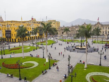 Old town of Lima, the pearl of the Pacific