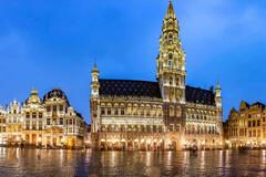 Free walking tour durch Brüssel bei Nacht