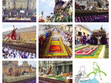 Free Tour - Alfombras por La Antigua Guatemala-Solo Viernes Santo