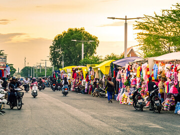 Lugares destacados de la ciudad de Siem Reap y comida callejera