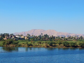 Enjoying the small boat trip on The Nile river