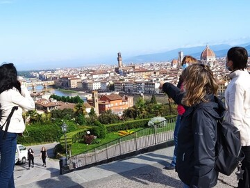 Free tour a pie por la mañana temprano en Florencia
