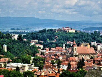 Free tour para grupos pequeños por el casco antiguo de Brașov con una gran vista
