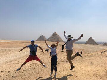 Free tour a pie por las pirámides de Giza y la Esfinge.