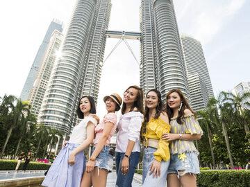 Herrlicher Spaziergang durch die Stadt Kuala-Lumpur
