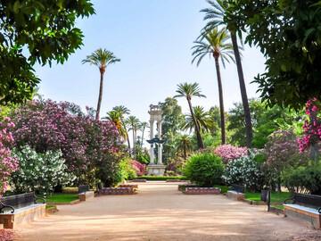Free walking tour attraverso il Parco María Luisa a Siviglia