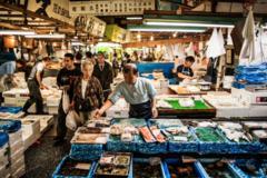 Free tour Mercado de pescado de Tsukiji, Hongan-ji y Hamarikyu